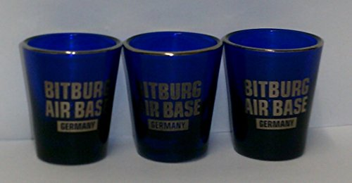 - Bitburg Air Base Germany - Colbalt Blue - 1.5 Ounce Shot