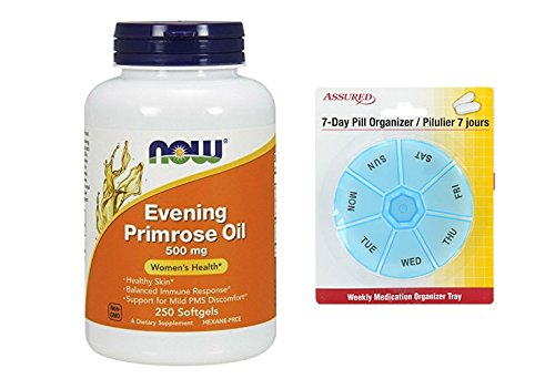 Amazon.com: AHORA aceite de onagra 500 mg, 250 cápsulas con gratis 7 días plástico píldora organizadores: Health & Personal Care