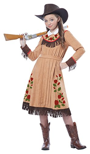 California Costumes Cowgirl/Annie Oakley Girl Costume, One Color, Medium (Annie Costume For Kids)