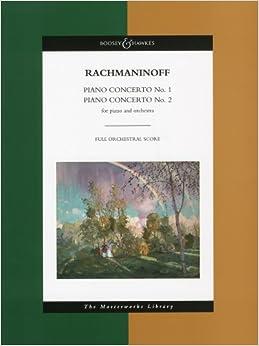 ラフマニノフ: ピアノ協奏曲 第1番、第2番/ブージー & ホークス社/大型スコア