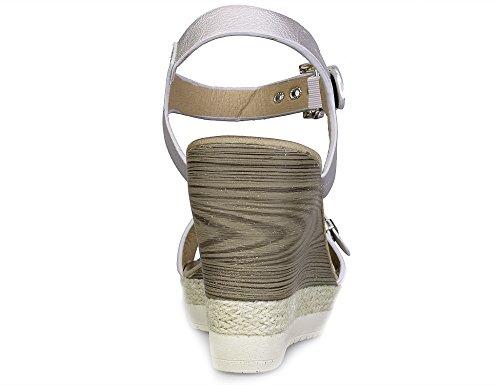 MaxMuxun Zapatos de Cuña con hebillas Mujer