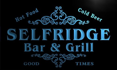 u40542-b SELFRIDGE Family Name Bar & Grill Home Decor Neon Light - Selfridges Sign