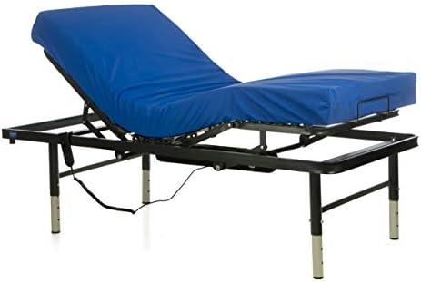 GERIALIFE® Cama articulada geriátrica hospitalaria con patas regulables (90x190 con colchon)
