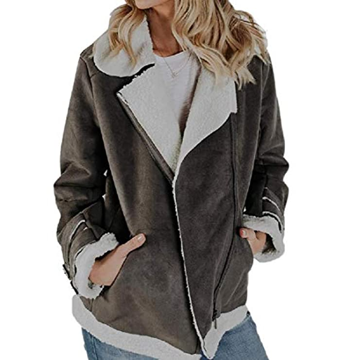 Donna Overcoat Con Pelle Capispalla Taschino In Scamosciata Da Per Motivo Faux Mimetico wEFqXC