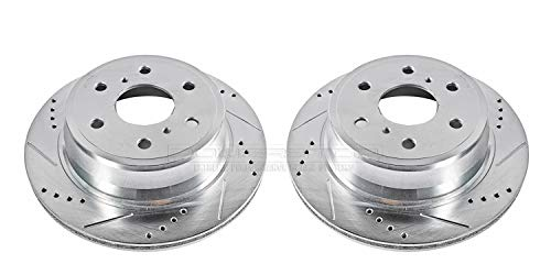 Power Stop AR8658XPR Rear Evolution Drilled & Slotted Rotor Pair