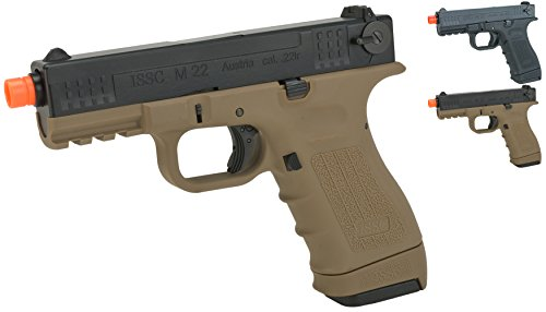 Co2 Gas Guns (Evike - We-Tech ISSC Licensed M-22 Airsoft GBB Gas Blowback Pistol - Desert (Co2 Mag) - (45331))