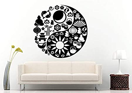 haochenli188 Yoga Yin Yang Symbol Wall Decal Mad of Zen ...