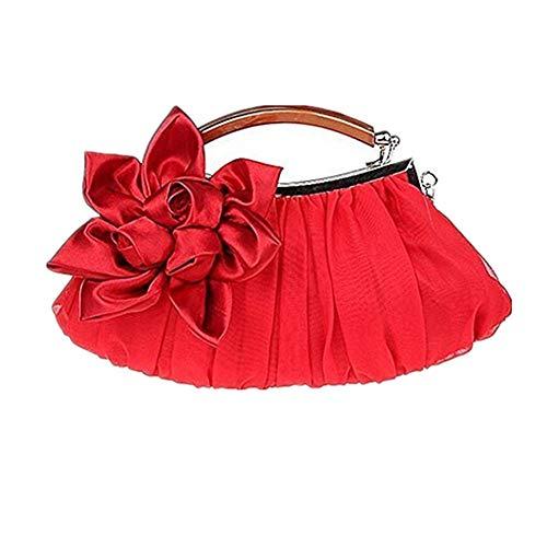 WeiSocket Newest Antique Satin Evening Party Fashion Designer Wedding Envelope Bridal Purse Women Clutch Shoulder Bag Elegant Handbag Red