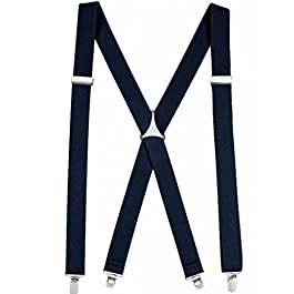 AINOW Men Women Unisex Trouser Braces – Suspenders Strong Heavy Duty with Adjustable Y Shaped Clips