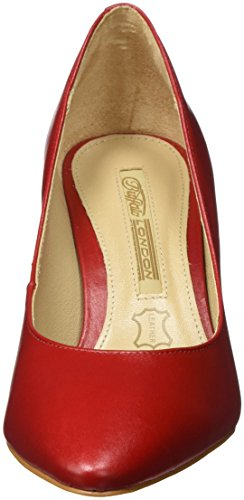 Semi Scarpe London 16 Cromo 7446 Zs Con Donna Rosso Tacco red207 Buffalo YAFIOY