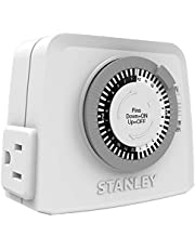 STANLEY 31199 TimeIt Twin 2-Outlet Grounded Mechanical Timer