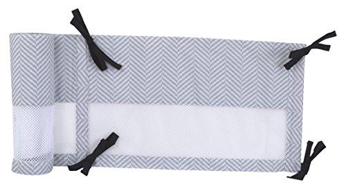 Liner Convertible (NoJo NoJo - Roar - Secure-Me Crib Liner, Black, White, Aqua)