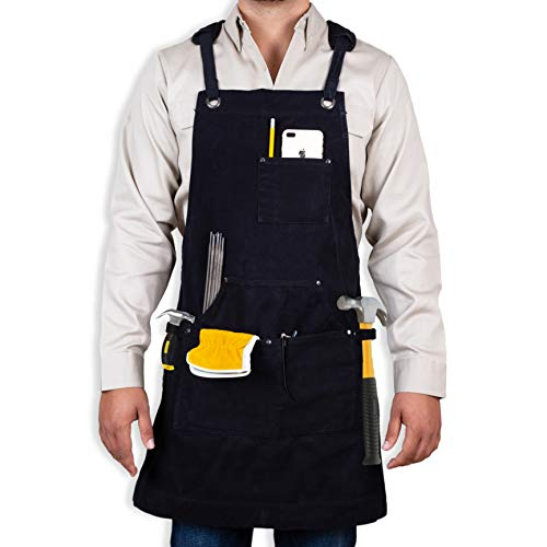 The First FR Canvas Welding Apron. Fire Resistant Safety Apron For Welding - The First Welding Apron To Follow NFPA Guidelines For Fire Retardant - Fire Retardant Apron -Safety Apron For Welders