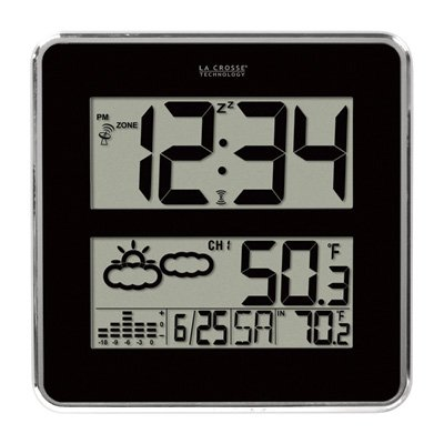 La Crosse Technology 512B-811 Large Atomic Digital Wall C...