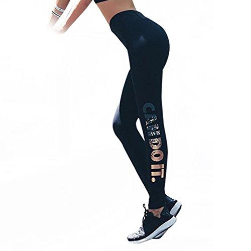 FIRERO Women Skinny Leggings High Waist Elastic Yoga Fitness Sports Capri Pants (Sports Wrap Long Captain Elastic)