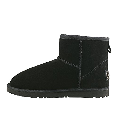 de Nieve Cuero Cl Zapatos Botas de Invierno Shenduo qw4zOax