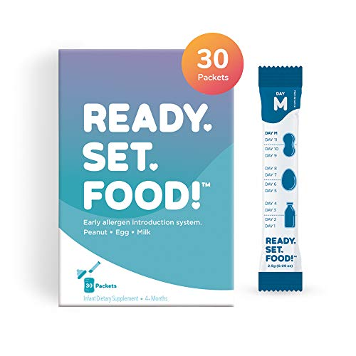 Early Allergen Introduction by Ready, Set, Food! | Add to Baby Food, Milk, or Formula | Reduce Baby's Risk of Developing a Food Allergy | Made with Organic Peanut, Egg, Milk | Easy to Use Stage 2