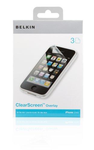 Belkin Screenguard F8Z678cw pack de 3 Film de protection cran transparent pour iPhone 4 / 4S