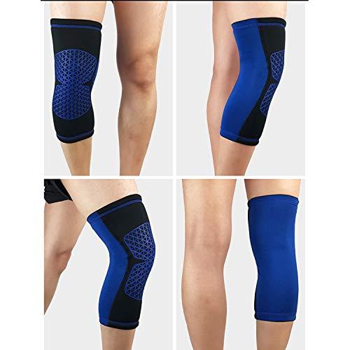 Anstorematealliance Sports&Entertainment Sports&Entertainment Factory Outdoor Knee Leg Breathable Anti-Collision Sports Protective Gear, Size: L(Black) (Color : Blue)