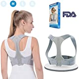 Posture Corrector Back Support Brace for Women Men Comfortable Upper Back Brace Clavicle Support Device for Thoracic Kyphosis and Shoulder Neck Pain Relief-M