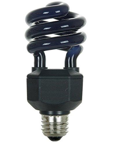 Dysmio Lighting 20 Watt Spiral Energy Saving CFL Light Bulb Medium Base Blacklight Blue (20 Watt)