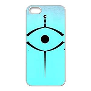 Personalized Creative Cell Phone Case For iPhone ipod touch4,black eyes with blue background