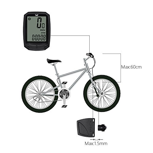 Bicycle Speedometer and Odometer Wireless Bike Cycling Computer with backlight