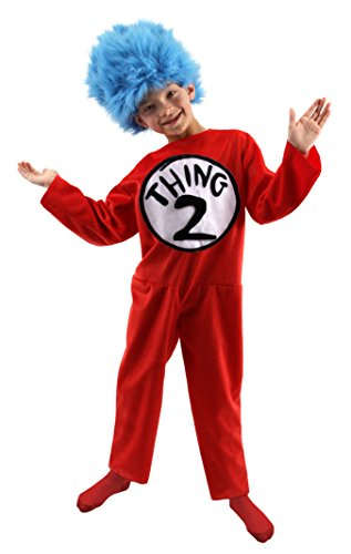 Thing 1 & 2 Costumes (elope Dr. Seuss Thing 1 & 2 Deluxe Kids Costume (M, 8-10))