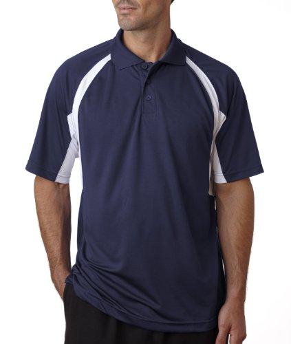 Badger Sport B-Dry Hook Polo Sport Shirt - 3344 - Navy / White - Large