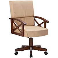 Coaster Home Furnishings Casual Game Chair, Oak/Beige