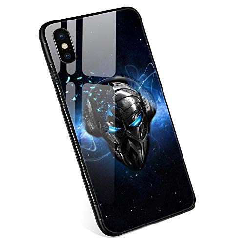 iPhone XR Cases for Boys Girls Men and Womens,Robot musicTempered Glass iPhone XR Case Fashion Personality Pattern Mobile Phone Shell Black Cover Case for iPhone XR