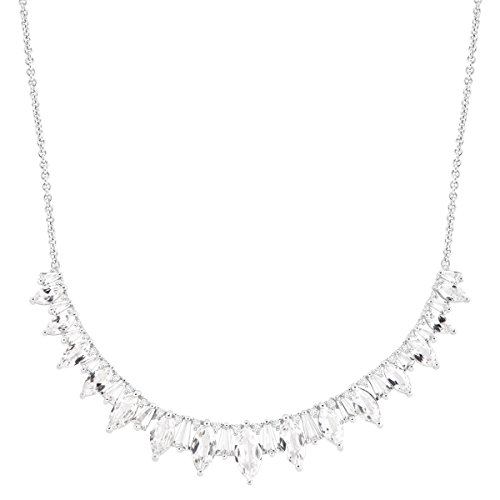 11 ct Created White Sapphire Garland Necklace in Sterling Silver by Finecraft