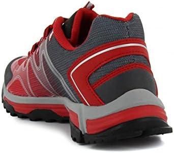 zapattu , Chaussures de randonnée Montantes pour Femme Gris Rouge