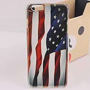 Mini - USA Flag Fluttering Plastic Hard Back Cover for iPhone 6