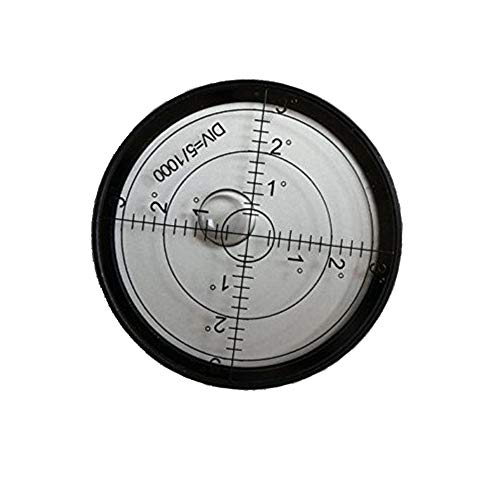 Driak 60mm Aluminium Case Precision Round Bullseye Bubble Level,Accuracy 15'/2