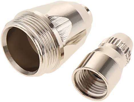 プラズマ切断ガン溶接ノズル LGK100 / LGK80 / CUT100用 DIY 工具 交換性 全4サイズ - 電極+ 1.1mmチップ