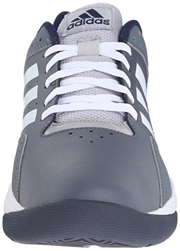 Chaussure De Basket-ball De Mens Ventilation Performances Adidas Plomb / Blanc / Bleu Marine Collégiale