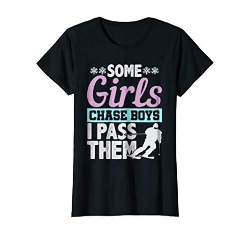 Funny Girls Ski Graphic Cute Skier Gift T Shirt