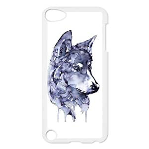 Wolf Pattern Plastic Hard Case FOR Ipod Touch 5 TPUKO-Q761232