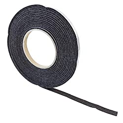 "haggiy Felt Tape - self-Stick Felt Strips 'Standard' - 0.118"" Thick | Length: 16 ft."