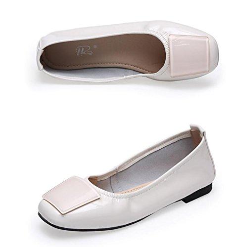 femmes grand dérapantes Chaussures maman Escarpins A anti mode bout confortables Sandales simples de Chaussures à plat plates pour Chaussures sandales à nbsp; chaussons Chaussures pois Chaussures aqX5Fw
