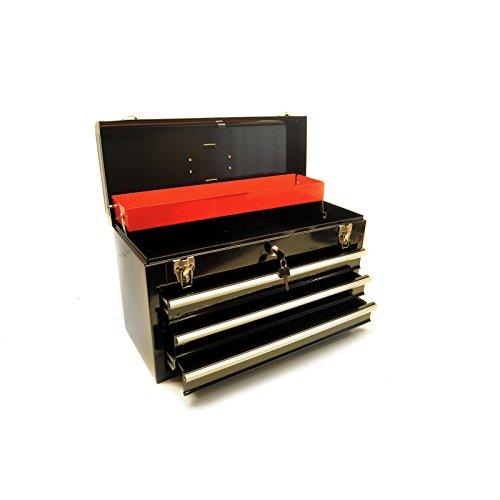 3 draw metal tool box - 5
