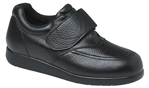 Drew Mens Navigator - Drew Shoe Men's Navigator II Sneakers, Black Leather, 14 6E