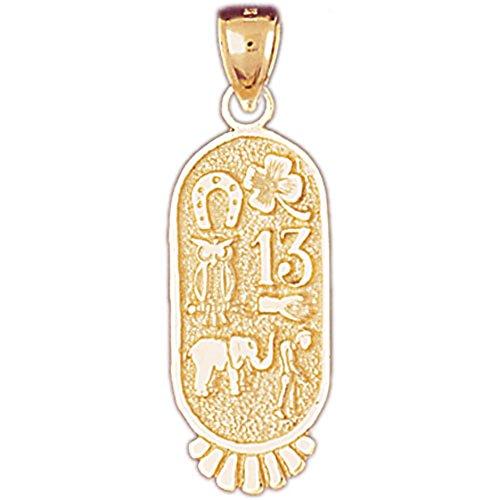 12 mm 14K Yellow Gold Best Friends Pendant Jewels Obsession Best Friends Charm Pendant