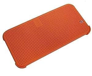 HTC One M9 Plus Supreme Camera - Dot View Smart Flip Case Cover Matte Orange