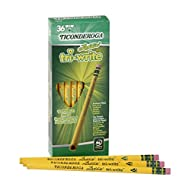 Dixon Ticonderoga Laddie Tri-Write Triangular Shaped Intermediate #2 Pencils, Box of 36, Yellow (13042)
