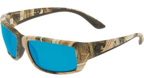 Costa Del Mar TF65OBMP Fantail Sunglasses, Mossy Oak Shadow Grass Blades Camo, Blue Mirror 580 Plastic Lens