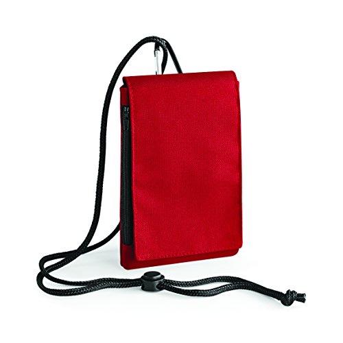 Bolso de hombro para móvil con velcro y bolsas con cremallera monedero y viajes en verde lima rojo classico