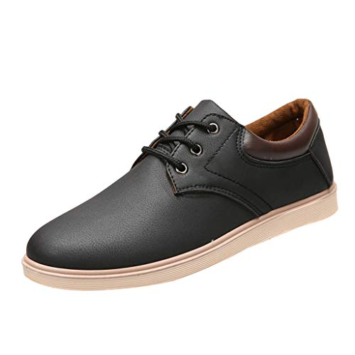 iHPH7 Shoes Sneakers Solid Color Non-Slip Bottom Casual Shoes Fashion Breathable Sneakers Shoes Men (44,Black)