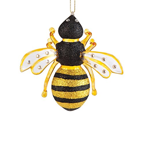 Gallerie II Glass Bumble Bee Hives Nest Yellow Black Fuzzy